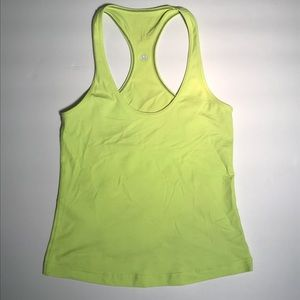 Lululemon yellow lime green Workout tank top